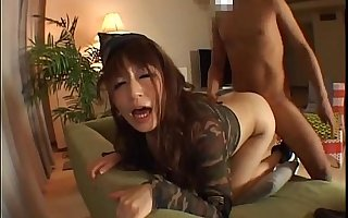 Hot milf gets effective less a indestructible cock