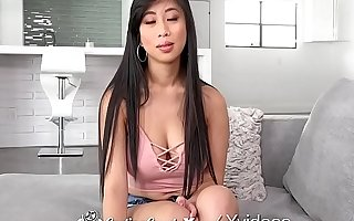 CastingCouch X Domineer asian Sink Kush fuck away from casting vehicle