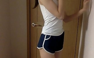 Skinny Korean Teen with hot pants.