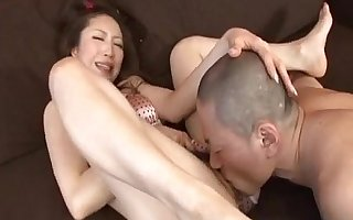 Koyuki Hara hot Asian milf is pussy pulverized onwards well-known deepthroat blowjob